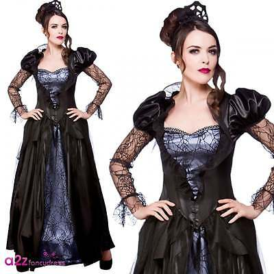 CA710 Deluxe Gothic Wicked Witch Women Halloween Horror Fancy Dress Cape Costume