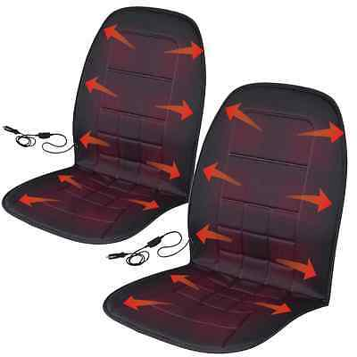 Travel Warmer Pair - 2 Heated Car Seat Cushions 12-Volt Padded Thermal Release