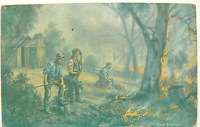 POSTCARD-THE ENEMY. A PICTURE BY AUSTRALIAN ARTIST J.A.TURNER LATE 1800's
