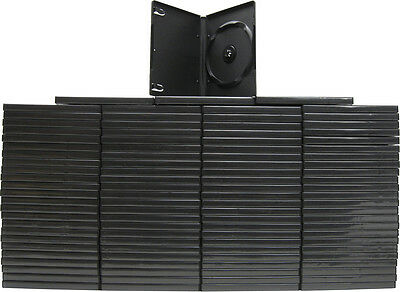 (100) DVBR14STBK DVD Cases Standard Black Sturdy Replacement Boxes NEW 14mm