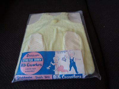 Vintage Stretch-Mates by Arnold Stretch Terry Bib Crawlers Baby 6-18 months NOS