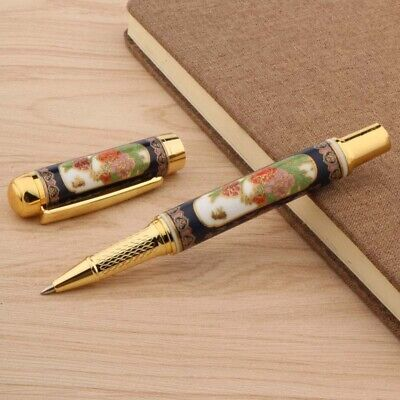 Chinese Blue and White Porcelain Pattern 0.5 MM  Metal Rollerball Pen