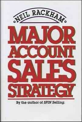 Major Account Sales Strategy by Neil Rackham Hardcover Book (English)