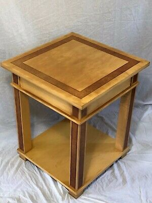 Stately Antique French Art Deco Style Blonde Wood Centre Console Table