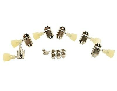 KLUSON 3x3 Nickel Double Line DBL Ring Tuners For Gibson Les Paul SD90SLNDR