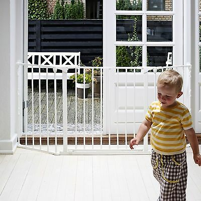 Babydan White Metal Medium Flexi Fit Hearth/configure Gate Covers 90 - 146 Cm