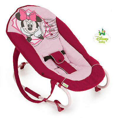 New Hauck Disney V Minnie Pink Rocky Deluxe Baby Bouncer Rocker Chair From Birth