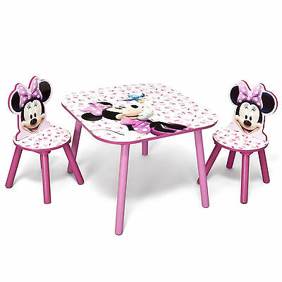 Delta Children Disney Minnie Mouse Kids Wooden Table & Chairs Bedroom / Playroom