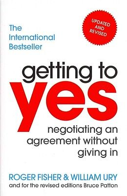 Getting To Yes by Roger William Fisher Ury Paperback Book (English)