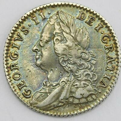 1758 George II .925 Sterling Silver 6d Sixpence Lot D