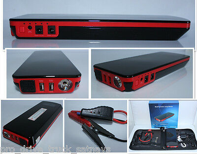 12V 18000mAh Portable Car Jump Starter Pack Booster Charger Battery Power Bank