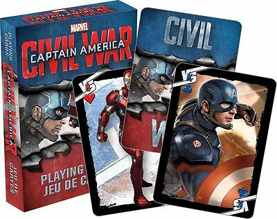 Captain America Civil War set of 52 playing cards (nm)