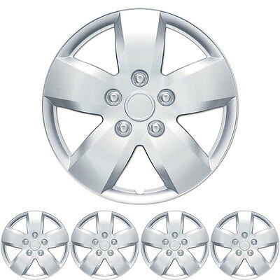 """4 PC Set 16"""" Silver Hubcaps Wheel Cover OEM Replacement Wheel Skin"""