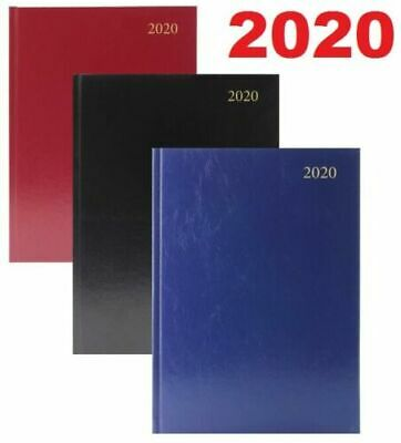 2019 Diary A4/A5/A6 Page A Day/Week to View/Gold Edges/Metal Corners/Hard Back
