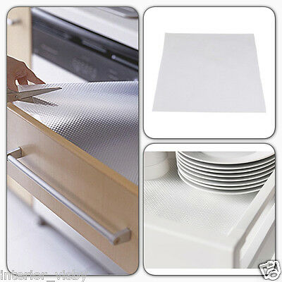 2 X IKEA Rationell Variera Clear Kitchen Drawer Liner Non Slip Rubber Mat