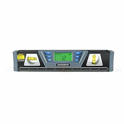 """Hammerhead_Hllt10_10"""" Digital Level W/ Laser Accurate Angles To 1/10 Degree, New"""