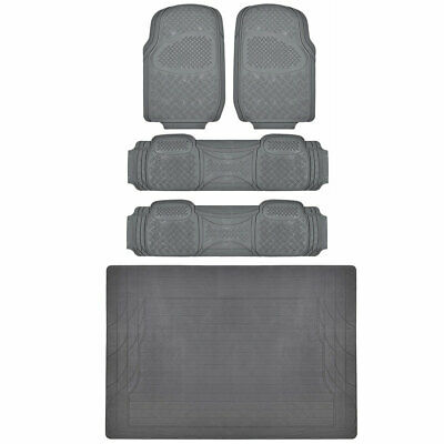 MOTORTREND Front Rear Floor Mats & Liner Superior Quality - Gray