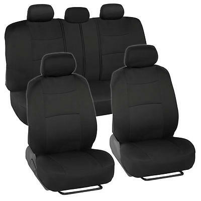 Car Seat Covers for Honda Civic Sedan Coupe 2 Tone Color Black w/ Split Bench