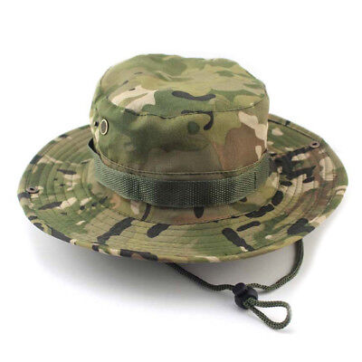 f7574548baeaf BUCKET HAT OUTDOOR Canvas Cap Military Fishing Wide Brim Boonie Hunting Camo  -  2.12