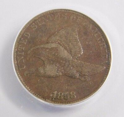 1858 Flying Eagle Cent, ANACS-VF20 with Large Letters!!