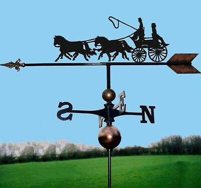 Coach & Four Horses Weathervane, Handmade, Very High Quality