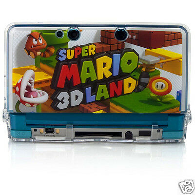 Nintendo 3DS Crystal Armor Super Mario 3D Land Case - Double Protection - Clear