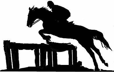 Large Steel Horse / Show Jumping Weathervane or Sign Profile - Laser cut 462mm