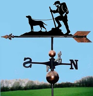 Walker / Rambler and Dog Weathervane, Handmade, Very High Quality