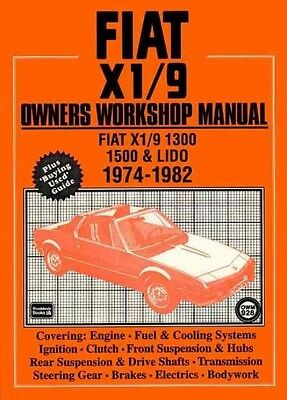 Fiat X1/9 Owners Workshop Manual: Fiat X1/9 1300, 1500 & Lido 1974-1982 by Paper