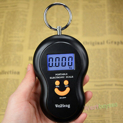 45Kg/10g Digital Backlight Fishing Luggage Hanging Weight Hook Scale