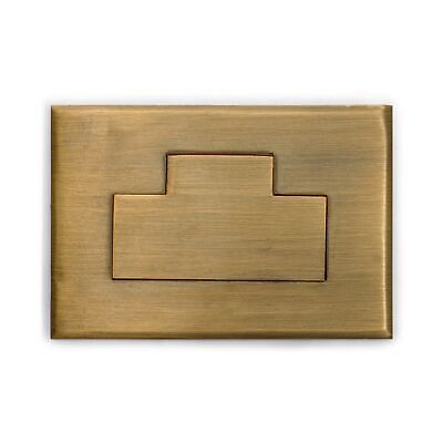 CBH 2 BRASS INLAY Chinese Hardware Box Drawer Pulls 3""