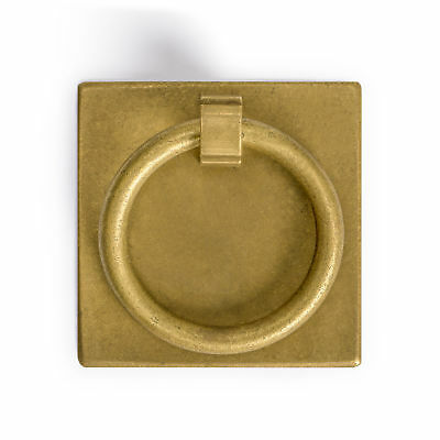 CBH 2 Chinese BRASS RING PLATE Cabinet Hardware Pull 2.3""