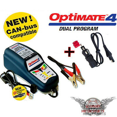 OPTIMATE 4 CANBUS MOTORCYCLE CHARGER BMW K1100 1200 1300 + DIN Adapter