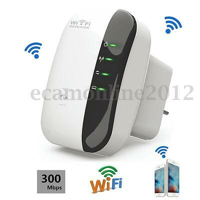300Mbps Universal Wireless WPS Wall Plug In Wifi Range Extender Signal Booster