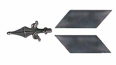 A Steel Weathervane Arrow Point & Flights. Make your own Weather vane.