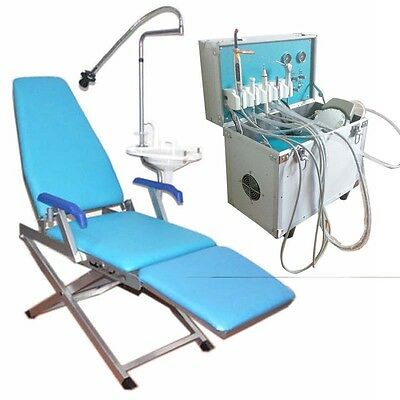 Dental Portable Delivery Unit ultrasonic Air Compressor Folding Chair Unit BEST