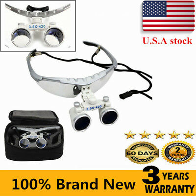 3.5X420mm Dental Binocular Loupes Magnifier Lens Glasses Surgical with Case