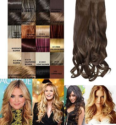 """Celebrity Clip In One Piece G0003 16"""" Long Curly Hair Extension Weft Hairpiece"""