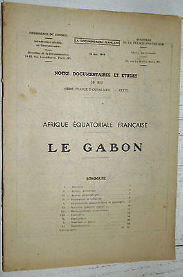 Documentation Francaise 1948 Colonies Afrique Equatoriale A.e.f. Gabon