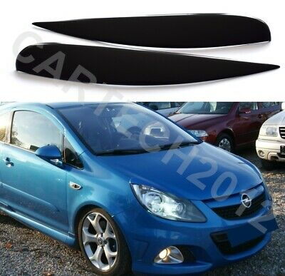 Fits Vauxhall Opel Corsa D,  Headlights  Eyebrows Eyelids  ABS PLASTIC