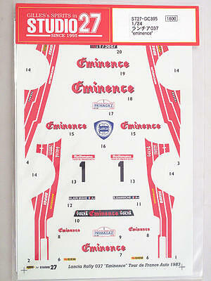 Studio 27 Lancia Rally 037 Eminence 1983 1:24 ST27-DC395 decal modellismo