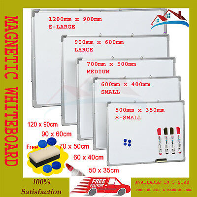 New Office School Small Medium Large Magnetic Whiteboard Dry Wipe Drawing Board