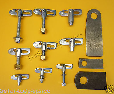 FREE UK POST - Antiluce Drop Catch Fasteners & Eye Plates M8 M12  Trailer