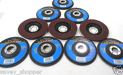 "Lot Of 10 4 1/2"" Inch X 7/8""  Flap 120 Grit Wheel Sanding Disc Aluminum Oxide"