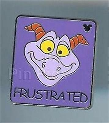 FIGMENT FRUSTRATED HIDDEN MICKEY Cast LANYARD DISNEY Trading PIN