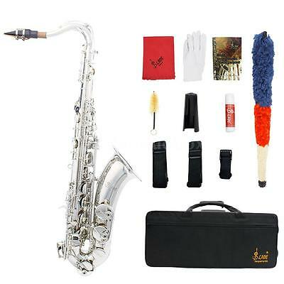 LADE High Quality Brass Bb Tenor Saxophone Sax with Case+Care Kit O3T4