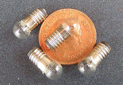 1:12 Scale Pack Of 4 x 12v Pea Bulbs Dolls House Miniature Lighting Accessory 24
