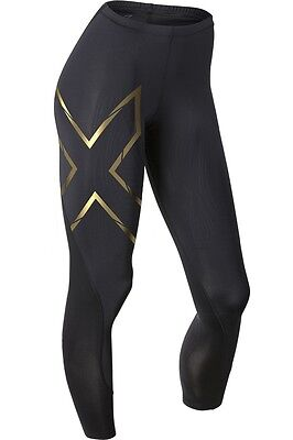 2XU Womens Elite MCS Compression Tights ( Black/Gold ) FREE DELIVERY AUS WIDE!