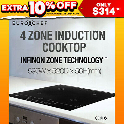 NEW EUROCHEF Electric Induction Cooktop 7000W 4 Zone Kitchen Cook Top Burner