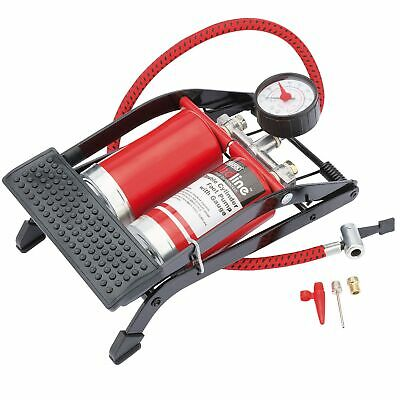 Draper Double Cylinder Air Inflation/Inflator General Purpose Foot Pump - 68473